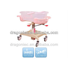 DW-CB08 adjustable baby bed of steel epoxy for newborn in hospita